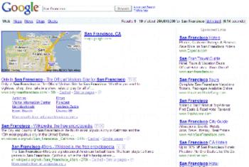 تصویر صفحهٔ نتایج موتور جستجو