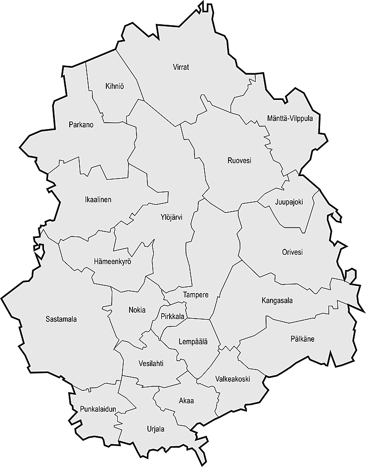 Pirkanmaa Kartta