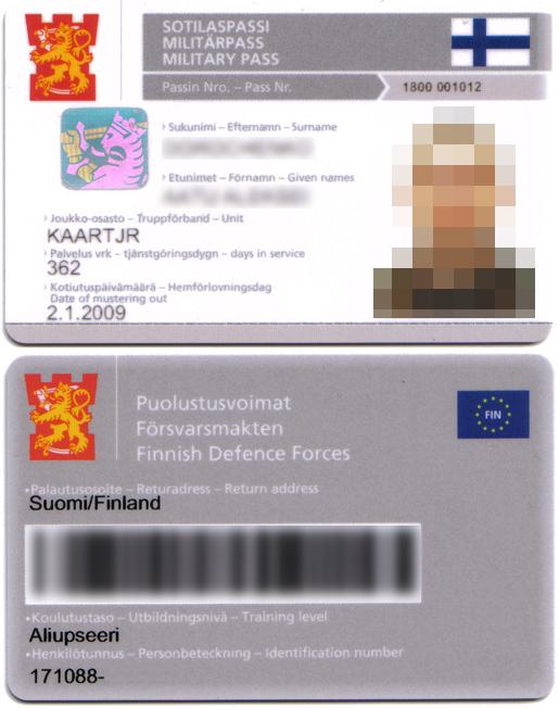 Asevelvollisen Esteettömyys Passi