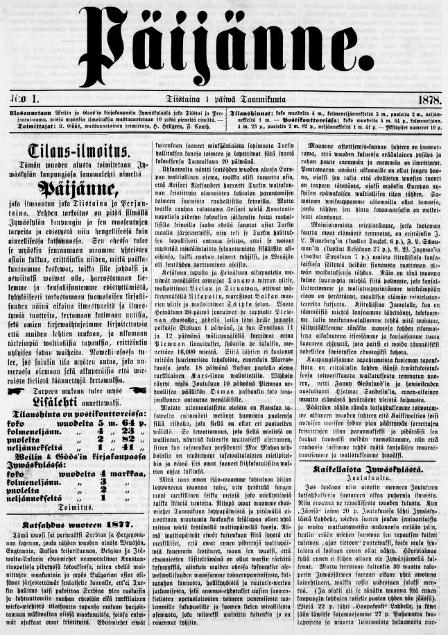 Vanhoja Sanomalehtiä