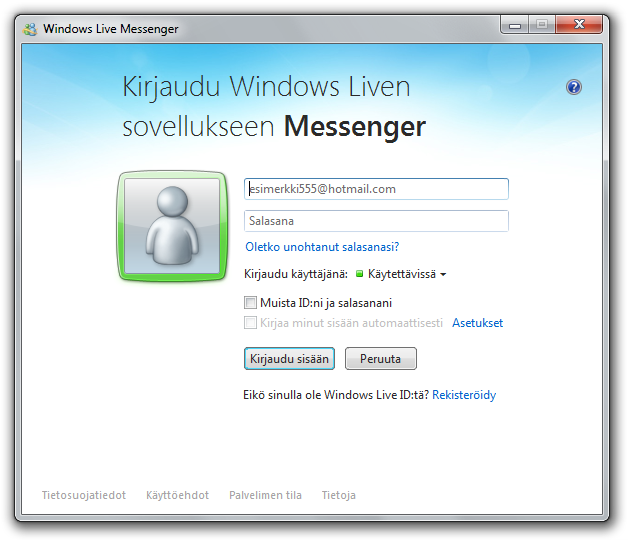 windows live log in