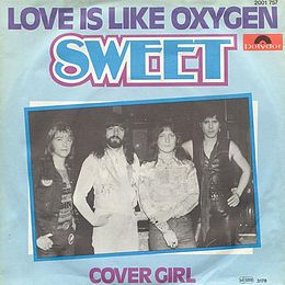 "Singlen ""Love Is Like Oxygen"" kansikuva"