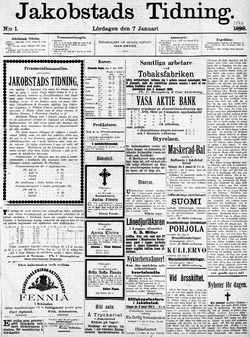 Jakobstads Tidning no 1 7-1-1899.png