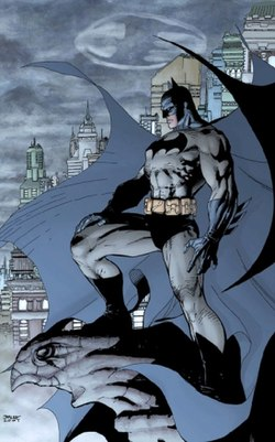 Batman. Piirros Jim Lee, tussaus Scott Williams.