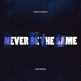 "Singlen ""Never Be the Same"" kansikuva"