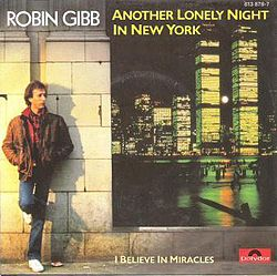 "Singlen ""Another Lonely Night in New York"" kansikuva"