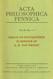 Acta Philosophica Fennica Vol. 28, 1976.