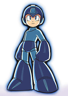 Mega Man from the cover art of Rockman 1 CW.jpg