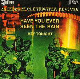 "Singlen ""Have You Ever Seen the Rain? / Hey Tonight"" kansikuva"