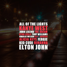"Singlen ""All of the Lights"" kansikuva"