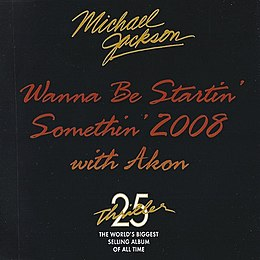 "Singlen ""Wanna Be Startin' Somethin' 2008"" kansikuva"