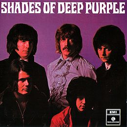 Studioalbumin Shades of Deep Purple kansikuva