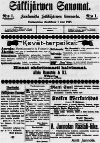 Säkkijärven Sanomat – Wikipedia
