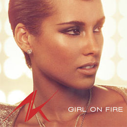 "Singlen ""Girl on Fire"" kansikuva"
