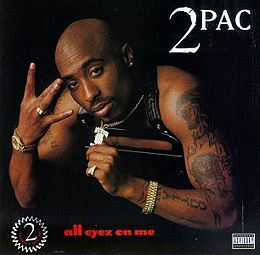 Studioalbumin All Eyez on Me kansikuva