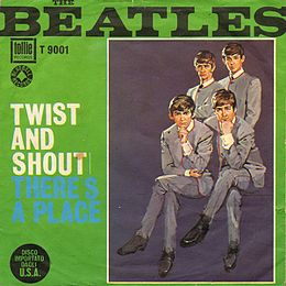 "Singlen ""Twist and Shout"" kansikuva"