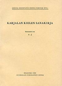 Karjalan kielen sanakirja – Wikipedia