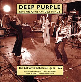 Kokoelmalevyn Days May Come and Days May Go: The 1975 California Rehearsals, Volume 1 kansikuva