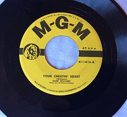 "Singlen ""Your Cheatin' Heart"" kansikuva"