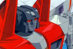Starscream elokuvassa The Transformers: The Movie.