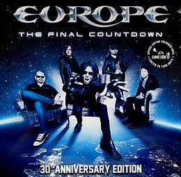 "Singlen ""The Final Countdown (30th Anniversary Edition)"" kansikuva"