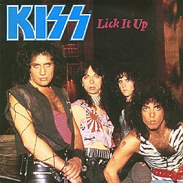 "Singlen ""Lick It Up"" kansikuva"