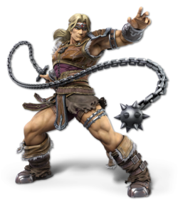 Simon Belmont kuvattuna pelissä Super Smash Bros. Ultimate