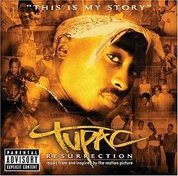 Soundtrack-albumin Tupac: Resurrection kansikuva