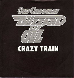 "Singlen """"Crazy Train"""" kansikuva"
