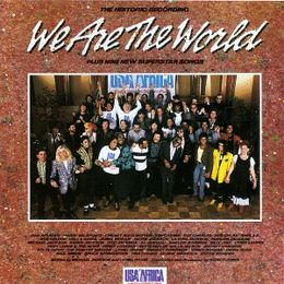 "Singlen ""We Are the World"" kansikuva"