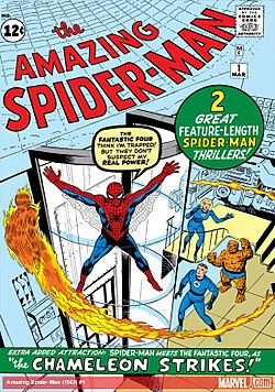 The Amazing Spider-Man No. 1 Kuvitus: Jack Kirby ja Steve Ditko