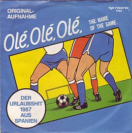 "Singlen ""Olé Olé Olé (The Name of the Game)"" kansikuva"
