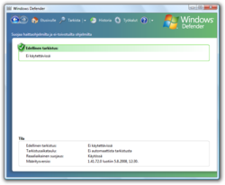 Windows Defender Windows Vistassa