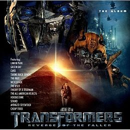 Soundtrack-albumin Transformers: Revenge of the Fallen – The Album kansikuva