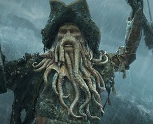 Image result for images of the Davy Jones in Pirates
