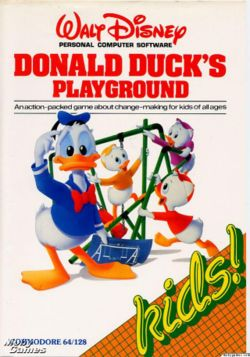 Donald Duck's Playgroundin - Commodore 64 -version kansikuva.