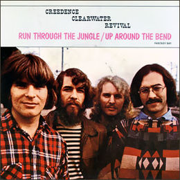 "Singlen ""Run Through the Jungle"" / ""Up Around the Bend"" kansikuva"