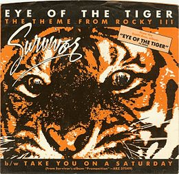 "Singlen ""Eye of the Tiger"" kansikuva"