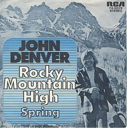 "Singlen ""Rocky Mountain High"" kansikuva"