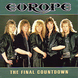 "Singlen ""The Final Countdown"" kansikuva"