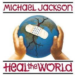 "Singlen ""Heal the World"" kansikuva"