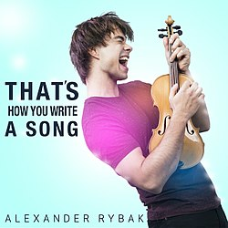 Alexander Rybak Thats How You Write a Song single cover.jpg
