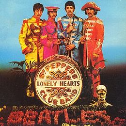"Singlen ""Sgt. Pepper's Lonely Hearts Club Band"" / ""With a Little Help from My Friends"" kansikuva"