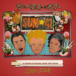 Kokoelmalevyn The Best Of Sum 41: 8 Years Of Blood, Sake And Tears 2000–2008 kansikuva