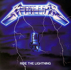 Studioalbumin Ride the Lightning kansikuva
