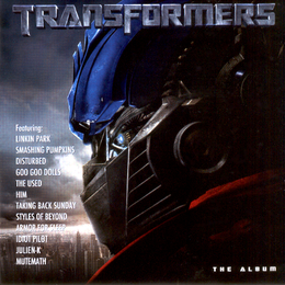 Soundtrack-albumin Transformers: The Album kansikuva