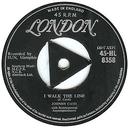 "Singlen ""I Walk the Line"" kansikuva"