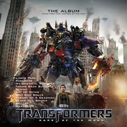 Soundtrack-albumin Transformers: Dark of the Moon – The Album kansikuva
