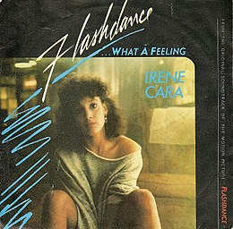 "Singlen ""Flashdance… What a Feeling"" kansikuva"