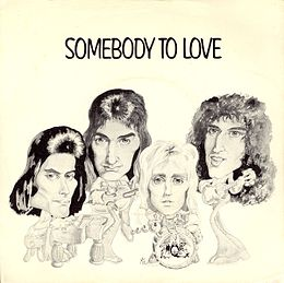 "Singlen ""Somebody to Love"" kansikuva"